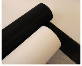 00 Iron-On Interfacing: 68cm x 50m Roll - Light, Medium, & Heavy - Choice of Colour